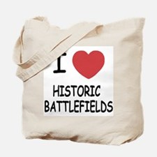 I heart historic battlefields Tote Bag