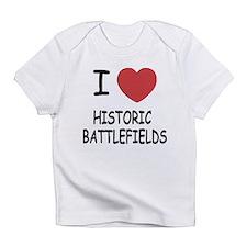 I heart historic battlefields Infant T-Shirt