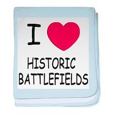 I heart historic battlefields baby blanket