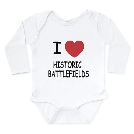 I heart historic battlefields Long Sleeve Infant B