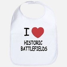 I heart historic battlefields Bib