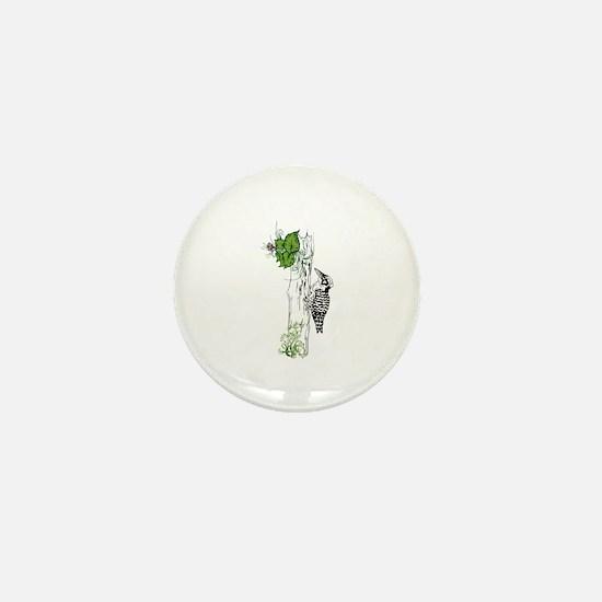 Woodpecker. Mini Button