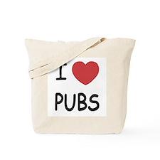 I heart pubs Tote Bag