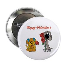 "Valentines Day Dogs. 2.25"" Button"