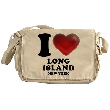I Heart Long Island Messenger Bag