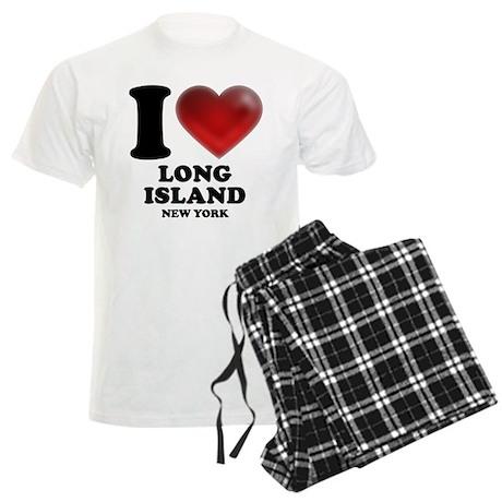 I Heart Long Island Men's Light Pajamas