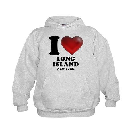 I Heart Long Island Kids Hoodie