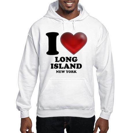 I Heart Long Island Hooded Sweatshirt
