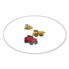 Construction Site Vehicles. Decal