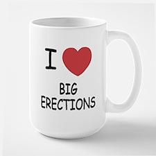 I heart big erections Large Mug