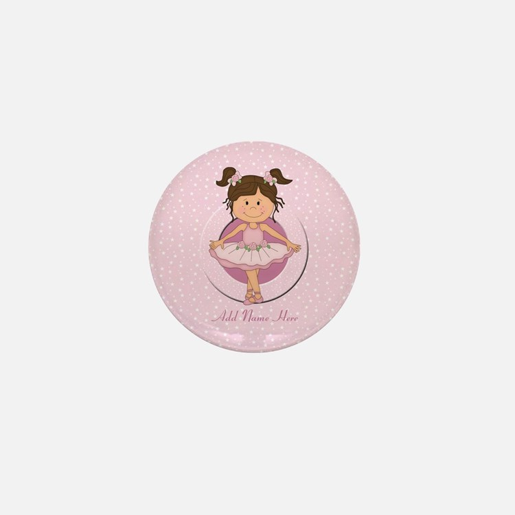 Personalized Ballerina Ballet Mini Button
