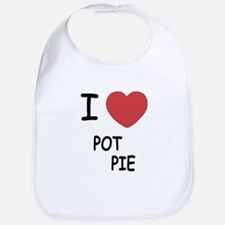 I heart pot pie Bib