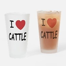 I heart cattle Drinking Glass