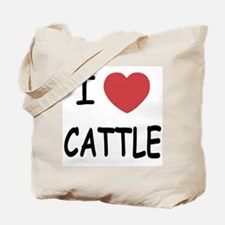 I heart cattle Tote Bag