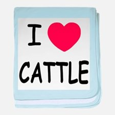 I heart cattle baby blanket
