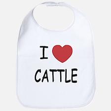 I heart cattle Bib