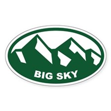 Big Sky Oval Decal