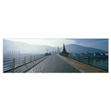 Bridge over the Neckar River, Heidelberg, Germany Poster