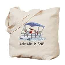 Pontoon Boat Tote Bag