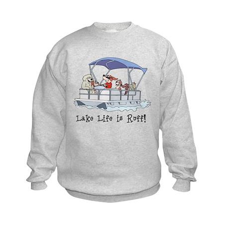Pontoon Boat Kids Sweatshirt