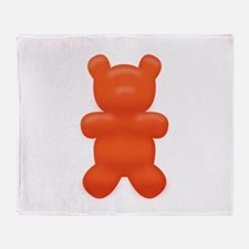 Red Gummi Bear Throw Blanket