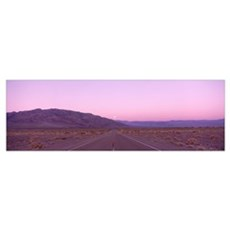 Highway at sunset, Death Valley National Park, Cal Poster