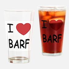 I heart barf Drinking Glass