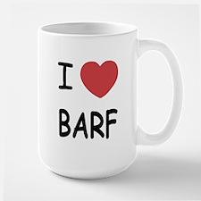 I heart barf Large Mug