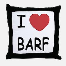 I heart barf Throw Pillow