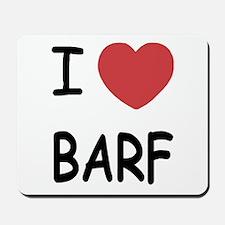 I heart barf Mousepad