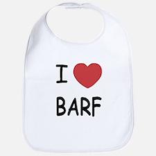 I heart barf Bib