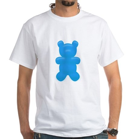 Blue Gummi Bear White T-Shirt