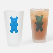 Blue Gummi Bear Drinking Glass
