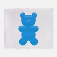 Blue Gummi Bear Throw Blanket