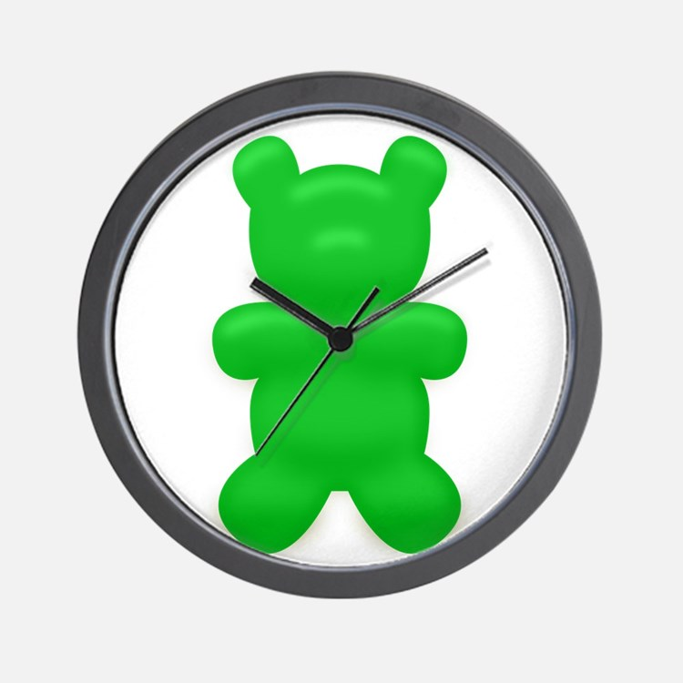 Green Gummi Bear Wall Clock