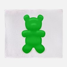 Green Gummi Bear Throw Blanket