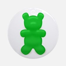 Green Gummi Bear Ornament (Round)