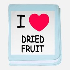 I heart dried fruit baby blanket