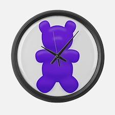 Dark Blue Gummi Bear Large Wall Clock
