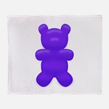 Dark Blue Gummi Bear Throw Blanket