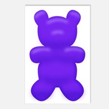 Dark Blue Gummi Bear Postcards (Package of 8)