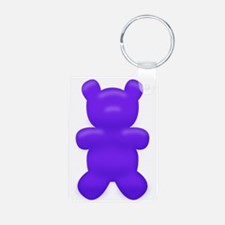 Dark Blue Gummi Bear Keychains