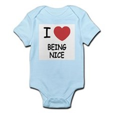 I heart being nice Infant Bodysuit