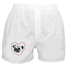 Hearts & Pug Boxer Shorts