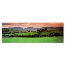 Cumbrian Mountains Snowdonia National Park Wales Poster
