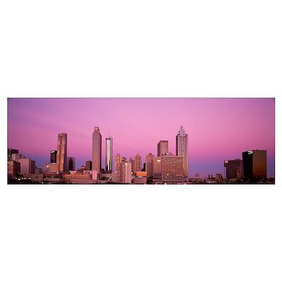 Georgia, Atlanta, Panoramic view of the city at da Poster