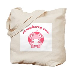 Strawberry Cow Tote Bag