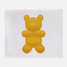 Orange Gummi Bear Throw Blanket