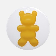 Orange Gummi Bear Ornament (Round)