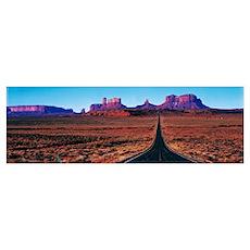 Route 163 Monument Valley Tribal Park UT Poster